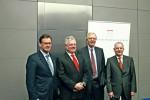 Von links nach rechts: Axel Gedaschko, GdW; Dr. Andreas Mattner, ZIA; Walter Rasch, BID-Vorsitzender und BFW; Jens-Ulrich Kießling IVD